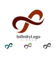 infinity logo template vector image vector image