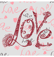 inscription love vector image vector image
