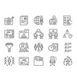 jobs line icon set vector image vector image