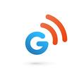 Letter G wireless logo icon design template vector image vector image