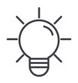 lightbulb idea cartoon vector image vector image