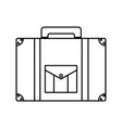 line briefcase journey travel tourist object vector image vector image