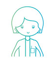 line woman doctor professional specialist vector image vector image