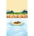 Little island in the sea vector image