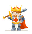 lord king knight fantasy medieval action rpg game vector image vector image