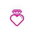 love diamond logo icon design vector image