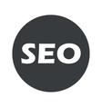 Monochrome round SEO icon vector image vector image