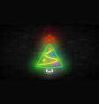 neon christmas tree concept vector image