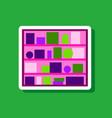 paper sticker on stylish background bookshelf vector image vector image