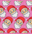 pattern head santa claus vector image