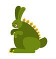 prehistoric rabbit dinosaur dino bunny raptor vector image