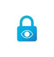 privacy eye icon eye icon with padlock sign eye vector image