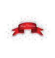 red realistic detailed curved paper merry vector image vector image