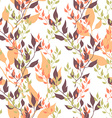 Seamless natural ecology colorful pattern with vector image