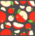 seamless pattern fruit background apple vector image vector image