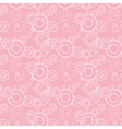 Seamless texture of pink circles and flowers vector image vector image