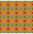 Seamless vintage retro pattern orange textile vector image