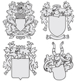set aristocratic emblems no7 vector image vector image