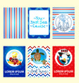 set of nautical and marine banners and flyers vector image vector image