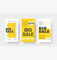 set story templates for big sale special vector image vector image