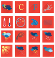 Set with the Weather Icons vector image