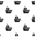 Ship black icon for web and mobile vector image vector image