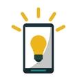 smartphone bulb idea imagination vector image