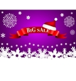 Tape with the word big sale and hat of Santa Claus vector image