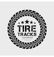 Tire tracks on grey background