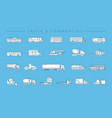 truck and commercial concept line style vector image vector image