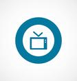tv bold blue border circle icon vector image vector image