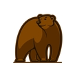 Walking grizzly bear vector image vector image