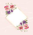 watercolor flower decoration on diamond shape vector image vector image