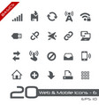 web and mobile icons-6 - basics vector image vector image