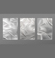 white wet paper bad glued wheatpaste set isolated vector image