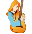 Young Musician vector image vector image