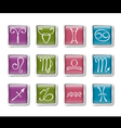 Zodiacal icons vector image vector image