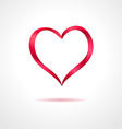 Abstract red heart on gray background creative vector image