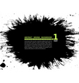 grunge abstract silhouette background banner ink s vector image