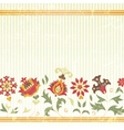 background with retro flowers vector image