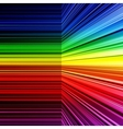 Abstract rainbow warped stripes background vector image vector image