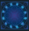 astrology zodiac signs vector image