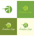 bamboo logo and icon vector image vector image