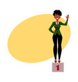 black african american businesswoman standind on vector image vector image