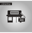 black and white style icon building cinema vector image vector image