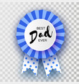 blue happy fathers day greetings card best dad vector image