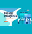 business management landing page men and woman vector image