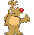 Cartoon bear giving thumbs up vector image vector image