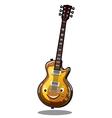 Cartoon electric guitar vector image