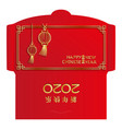 chinese new year money red packet ang pau design vector image vector image